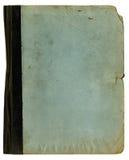 Textura áspera de la carpeta o del cuaderno de la escuela vieja Foto de archivo
