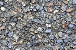 Textura áspera del asfalto - fondo abstracto del camino primer Foto de archivo