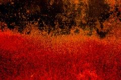 Textura áspera oxidada assustador velha escura da superfície de metal/fundo dourado e de cobre para Dia das Bruxas ou fundo dos j Fotos de Stock