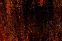 Textura áspera oxidada assustador velha escura da superfície de metal/fundo dourado e de cobre para Dia das Bruxas ou fundo dos j Foto de Stock Royalty Free