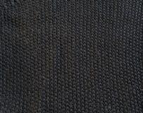 Textura áspera preta de pano do grunge Fotos de Stock
