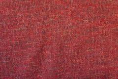 Textura áspera vermelha de pano Fotografia de Stock