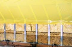 Textura - ático al instalar la impermeabilización Fotografía de archivo