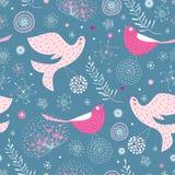 A textura é pássaros bonitos Imagem de Stock Royalty Free