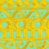 Textura étnica do fundo do teste padrão da garatuja dourada do ouro Imagem de Stock