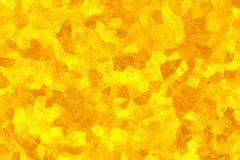 Textura abstracta amarilla Papel pintado del mosaico Estructura cristalizada Fondo asoleado brillante Fotografía de archivo