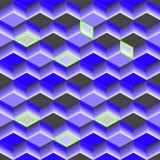 Textura abstracta azul Cubo del fondo 3d del vector libre illustration