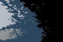 Textura abstracta blanca y azul del fondo Mapa de la fantasía con la línea de la playa del norte, mar, océano, hielo, montañas, n imagen de archivo libre de regalías
