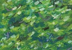 Textura abstracta colorida de la pintura al óleo del follaje del árbol stock de ilustración