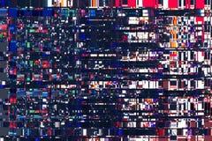 Textura abstracta colorida del fondo interferencias, ruido digital Imagenes de archivo
