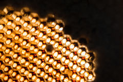 Textura abstracta de la cera de la abeja Fotografía de archivo libre de regalías