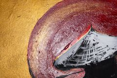 Textura abstracta de la pintura de aceite en fondo de la lona foto de archivo libre de regalías