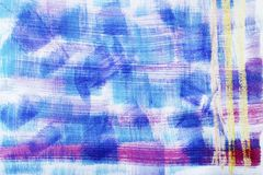 Textura abstracta de la pintura en la lona, backgroun Fotos de archivo