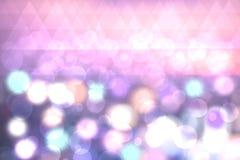 Textura abstracta del bokeh ligero en colores pastel festivo colorido con el blurre imagen de archivo