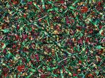 Textura abstracta del follaje de la primavera y del verano Fondo bot?nico de la hierba y de las flores Modelo colorido moderno stock de ilustración