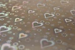 Textura abstracta del fondo con los corazones Fondo conceptual para el día de tarjeta del día de San Valentín Foco selectivo foto de archivo