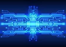 Textura abstracta del fondo de la placa de circuito de la tecnología Imágenes de archivo libres de regalías