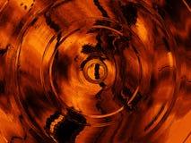 Textura abstracta del grunge del fondo, con los círculos ilustración del vector