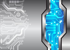 Textura abstracta del metal del circuito del fondo de la tecnología Foto de archivo