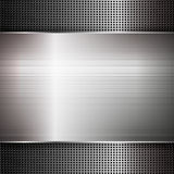 Textura abstracta del metal Ilustración del vector Foto de archivo libre de regalías