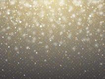 Textura abstracta granosa de la Navidad de oro ejemplo uno del vector stock de ilustración