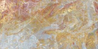 Textura abstracta ilustraciones modernas Pintura de m?rmol del efecto Pinturas blancos y negros mezcladas Pintura de oro Fondo de fotos de archivo libres de regalías