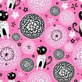 Textura abstrata com gatos Imagens de Stock Royalty Free