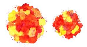 Textura abstrata da aquarela, formulário biônico, cor dinâmica amarela e vermelha Desenvolvimento dinâmico Crescimento Para o fun ilustração stock