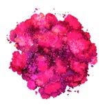 Textura abstrata da aquarela, formul?rio bi?nico, rosa da cor e roxo din?micos Tamanho grande Para o fundo Isolado no branco ilustração do vetor