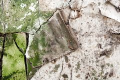Textura abstrata da deterioração da construção Foto de Stock Royalty Free