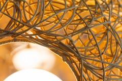 Textura abstrata da lâmpada do weave Fotografia de Stock Royalty Free