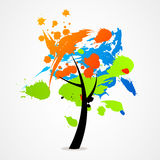 Textura abstrata da natureza do logotipo da árvore do negócio Fotografia de Stock