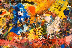 Textura abstrata da pintura de óleo na lona, fundo foto de stock