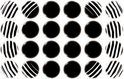 Textura abstrata de bolas esféricas lisas preto e branco dos círculos de bonito incomum do corte liso O fundo Vetor ilustração do vetor
