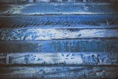 Textura abstrata de madeira azul Fundo azul da madeira do vintage Textura e fundo abstratos para desenhistas Vista macro da madei Imagens de Stock Royalty Free