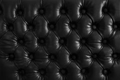 Textura abstrata do fundo do couro com rombos Teste padrão sujo preto clássico da parede retro, sofá, porta, estúdio Fotografia de Stock Royalty Free