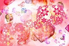 Textura abstrata do fundo do coração ilustração royalty free