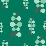 Textura abstrata do teste padrão do vetor, plantas verdes Fotografia de Stock Royalty Free