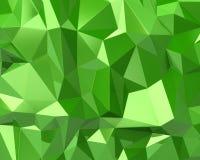 Textura abstrata do triângulo do verde 3d Imagem de Stock