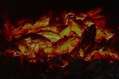 Textura abstrata dos carvões ardentes do fogo imagem de stock