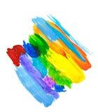 A textura abstrata e a aquarela da mancha da pintura acrílica espirram Entregue o acrílico colorido de tiragem chapinham isolado  ilustração do vetor