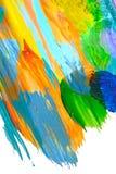 A textura abstrata e a aquarela da mancha da pintura acrílica espirram Entregue o acrílico colorido de tiragem chapinham isolado  ilustração stock