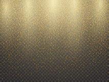 Textura abstrata granulado do Natal dourado Ilustração do vetor ilustração stock