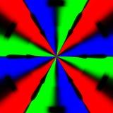 Textura abstrata hipnótica demente ilustração stock