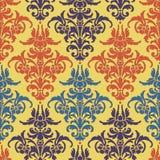 Textura abstrata Ilustração com a flor da arte no fundo amarelo Fotografia de Stock Royalty Free