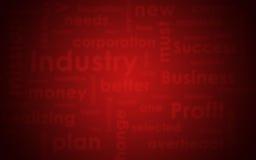 Textura abstrata Palavras e vermelho do negócio de Blured Imagens de Stock Royalty Free