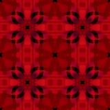 Textura abstrata preta vermelha Telha sem emenda Teste padrão da cópia de matéria têxtil Amostra home do projeto da tela da decor Foto de Stock