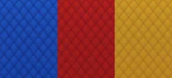 Textura acolchoada matéria têxtil colorida Fotografia de Stock Royalty Free