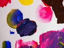 Textura acrílica do sumário do fundo da pintura das artes Imagens de Stock Royalty Free