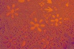 Textura adornada floral del papel pintado Foto de archivo
